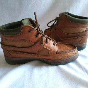 Vintage Timberland Boots Leather Walking Hiking 8